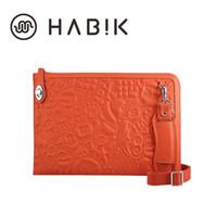 Wholesale HABIK Original Portable Shock Absorption Microfiber Leather Shoulder Bag Notebook Laptop Liner Sleeve Case for Macbook inch
