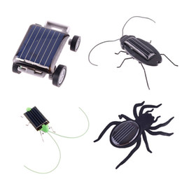 Wholesale Robot Christmas Birthday gift Solar Spider Car Grasshopper Cockroach Education toys for children Energy Powered kids T100 H1759 H1758 H1394