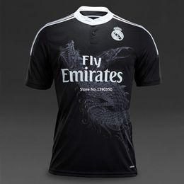 Wholesale Whosales Madrid Jersey Football Jerseys D Away Black Cristiano Ronaldo Bale James Kroos Soccer Jerseys TopThai Quality