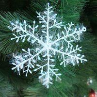 Wholesale The Christmas tree ornaments Christmas snowflake Plastic round line decoration snowflakes