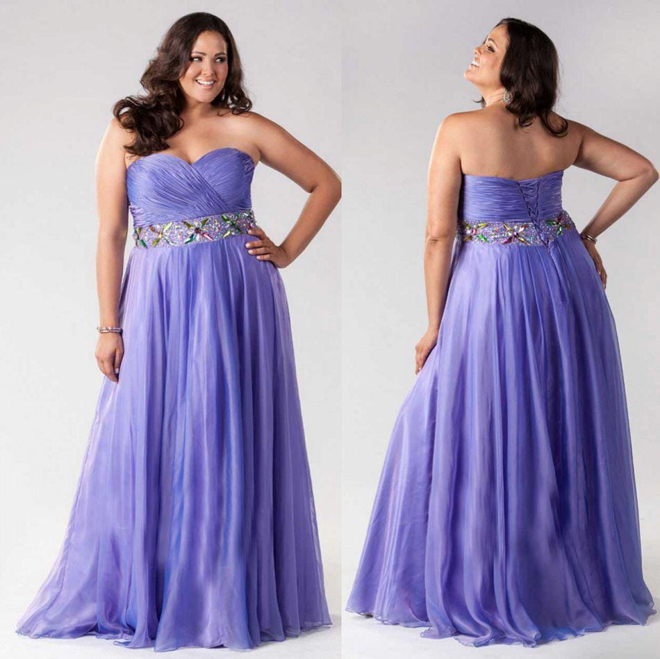 2015 Sexy Lavender Plus Size Formal Dresses A Line Sweetheart ...