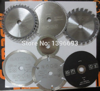 Wholesale 7pcs set mini saw blades cutting blades for mini circular saw diameter mm electric saw blade Power tool accessory blades
