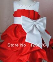 Cheap Wholesale-girl birthday dress 2013 children girls Princess dress chiffon Big bowknot dresse for summer