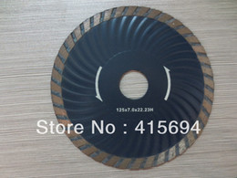 Wholesale 125mm turbo wave cutting blade inch diamond saw blade for bricks granite marble and concrete