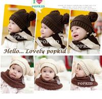 Wholesale Cheapest Baby Beanies Crochet Handmade Ball Winter Hat Warm Girl Caps Skull Hat Hot Sale