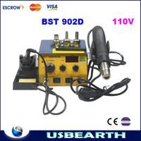 Cheap BEST-902D 2 in 1 digital intelligent lead free spiral hot air gun soldering station,desoldering machine