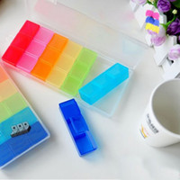 Cheap New 7 Days Colorful Pill Medicine Tablet Drug Box Case Organizer Container#23497