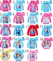 Cheap Hot Sale 19 Color Frozen Baby Girls Elsa Anna Princess Olaf Hoodie Long Sleeve Terry Hooded Jumper Cartoon Outerwear