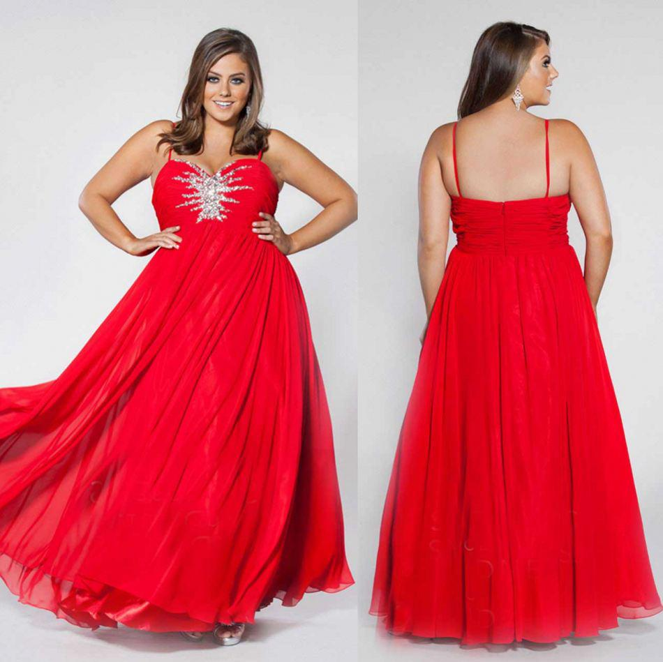 Red Evening Dresses For Plus Size - Boutique Prom Dresses