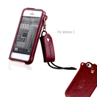 Wholesale iPhone S PU Leather Cases iPhone S Cover with Landyard Retro Leather Case for iPhone5 iPhone5S iPhon4 iPhone4S Cellphone Mobile Phone