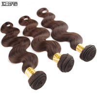 Cheap 100% Human Hair Bundles Remy Brazilian Hair Extensions Body Wave 3pcs lot Color 2# Can be dyed and bleached Aliexpress TD HAIR