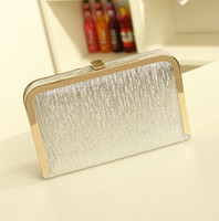 Wholesale Promotional Luxury Women Wallets Best Metal Sense Glossy Leather Clutch Bags Small Style Gold And Sliver Wallets And Purse