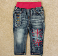 1-5 year kids fabric cotton - 2014 Autumn Children s Jeans Soft The Fabric All Cotton Denim Kids Pants Korean All Cotton Baby Boy Girl Jeans M Age WD196