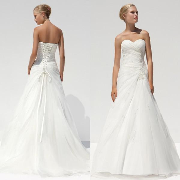 Discount Excellent Quality Ivory White Wedding Dress
