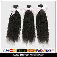 Cheap Fashion Personality!Unprocessed Malaysian Virgin Hair Weave Wefts Kinky Curly Human Hair-Extensions 3pcs lot Grade 6A Natural Color
