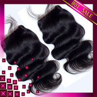 Cheap Brazilian hair weave hair wigs 5AUnprocessed Brazilian Virgin Hair With Closure Silk Base Closure FREE SHIPPING