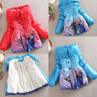 kids winter jackets - NEW Baby Girls Frozen Queen Elsa Anna Snowsuit Outwear Kids Lined Coat Jacket