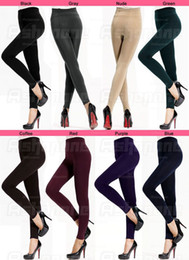 Wholesale New Women s Winter Thick Warm Slim Stretch Footless Tights Leggings Pants Colors Choose
