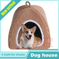 Wholesale New Arrival Doghouse Lovely Soft Pet Products Dog Bed Kennel Pet House Cute Animal House RL28