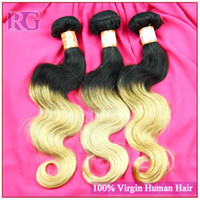 Wholesale Ombre Hair Color T1B Body Wave Ombre Brazilian Hair Wavy Human Hair Extensions quot quot Excellent Quality Fast Delivery