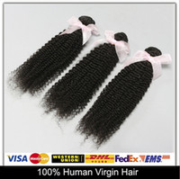 Cheap Quintessential Hair!Unprocessed Malaysian Virgin Hair Weave Wefts Kinky Curly Human Hair-Extensions 3pcs lot Grade 6A Natural Color