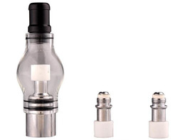 Wholesale 2016 Bulb Atomizer Wax Glass dome glass globe attachment Glass Pyrex Glass for eGo t Battery E Cigarettes Dry Herb Wax Vaporizer