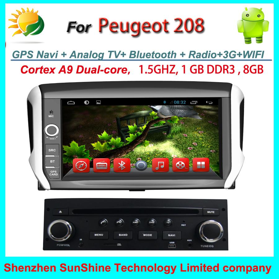 100 android car dvd for peugeot 208 car radio dvd gps navigation tv 3g wifi usb sd touch screen. Black Bedroom Furniture Sets. Home Design Ideas