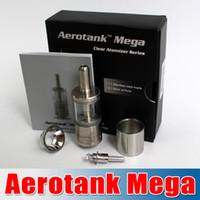 Cheap Aerotank Mega atomizer vaporizer Aero Tank Mega Clearomizer with Upgraded BDC Dual Coil new Pyrex glass and Stainless steel waitingyou