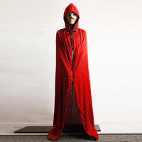 Wholesale Special Halloween Masquerade Costume adult sided red and black cloak cape cloak sleeve adult