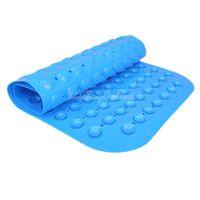 Wholesale Poly Vinyl Chloride Non slip Mat Bath Mat Bath Rugs with Suckers Blue K5BO