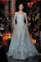 vestido de novia - Gorgeous Beautiful Elie Saab Runway Crew A line Lace Wedding Dresses Custom Made Bridal Vestido De Novia