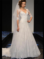 Wholesale Beaded Off shoulder Wedding Dress Half Sleeve Lace Decorative Sequin Applique Covered button High Quality Bridal Gown Custom made WEI