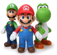 Wholesale Super Mario Bros Mario Yoshi Luigi PVC Action Figure Collection Model Toys Dolls set SMFG225