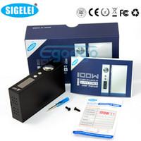 mechanical mod - 100 Original Sigelei W Box Mod Sigelei e cig Mechanical Mod popular MOD variable voltage e cigarette Sigelei watt mod