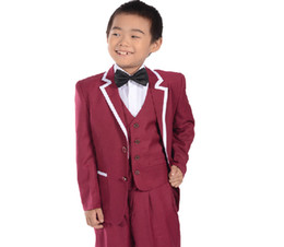 Wholesale Hot sales children suit male han edition cultivate one s morality boy wedding flower girl dress costumes three piece little boy suit