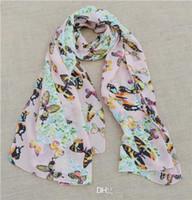 Wholesale JLB cm cm New Women s Fashion special leopard printed Design chiffon georgette silk like scarf shawl