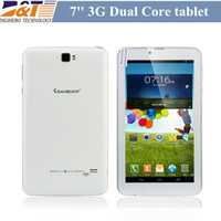 Wholesale NEW Cheap WCDMA G Phablet Tablet Sanei G701 g tablet MTK8312 Dual Core Android GB ROM with Bluetooth Dual Sim card slot