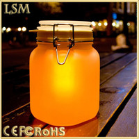 Wholesale Colorful Change Automatically Environmental Protection and Energy Saving Solar Jar Light Lamp Sunshine Love Gift