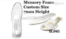 Wholesale 1pairs New Hot Sale Massage Sport Insole Shoe Taller Pads Memory Foam For Flatfoot Unisex OPP Bag Pkg Free CN Post Shipping