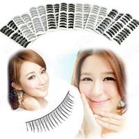 Wholesale 90 Pairs Style Fashion False Eyelash Fake Lashes Cross Nature Thick