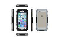 Vendita calda! Iphone 6 4.7 pollici casi Impermeabile Subacquea custodia protettiva per PC + Silicone, Polvere IPX8 impermeabile coperture del telefono top OEM per nave gratis