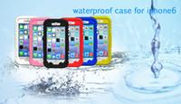 NUOVO arrivo Iphone 6 casi Iphone6 4.7 pollici custodia impermeabile telefono immersioni manicotto di protezione PC + Silicone impermeabile DHL polvere IPX8 gratis nave