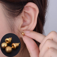 14k gold earrings - 24pairs New hot Women s Globular Stud K Gold Filled Ear Stud Earrings Fashion Jewelry Xmas Gift Free Ship