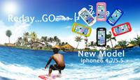 Vendite Hoot - Iphone 6 4.7 pollici del telefono caso impermeabile di immersione subacquea manicotto protettivo del PC + silicone antipolvere IPX8 impermeabile OEM top