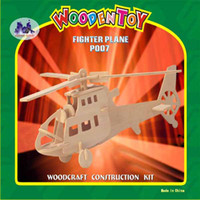 Wholesale Plane Series Fighter Plane Model Wooden D Puzzle Puzzle Game Educational For Kids Various Styles Hoting Selling