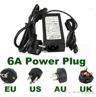 Wholesale 6A power supply AC V V to DC V AU USA UK EU Standard power adapter for led strip light Free Fedex DHL
