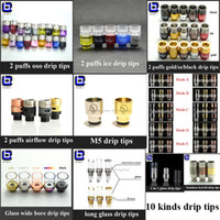 boring - Glass wide bore Drip tip long short copper driptip M5 stainless drip tips in tip puffs oso ice gold ss black airflow muffler driptips