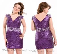 Purple sequin dress plus size