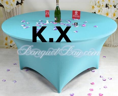 Spandex table cover table cloth 120cm round turquoise for 120 round table seats how many