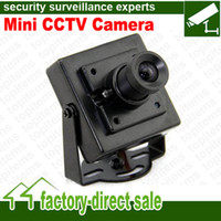 Wholesale best selling DC12V Small housing Mini Size CCTV Camera CMOS SONY CCD TVL TVL mm mm Lens Optional
